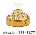 料理 白バック 食べ物のイラスト 23345877