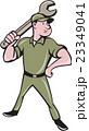 Mechanic Wielding Spanner Cartoon 23349041
