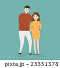 二人 夫婦 ファミリーのイラスト 23351378