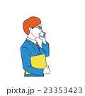 電話 サラリーマン スマートフォンのイラスト 23353423