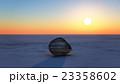 sunrise with stone 23358602