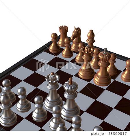 3d illustration of chess  situationのイラスト素材 [23360017] - PIXTA
