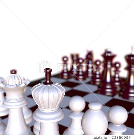 3d illustration of chess  situationのイラスト素材 [23360037] - PIXTA