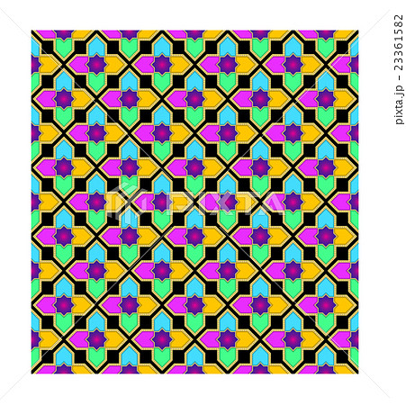 Islamic Star Seamless Pattern Vol 2 Blackのイラスト素材 [23361582] - PIXTA