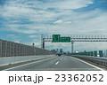 高速道路を走行中 もうすぐ名古屋西インター 料金所の標識 23362052