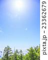 夏山の太陽 雲取山山頂にて 東京都奥多摩町 山梨県丹波山村 埼玉県秩父市 23362679