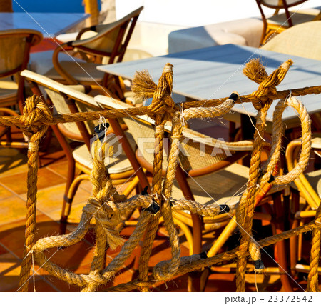 wicker sofa  in santorini europe gre の写真素材 [23372542] - PIXTA