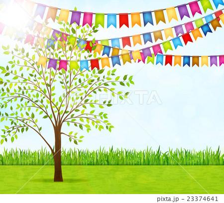 Garden Party Vector Background 23374641 Pixta