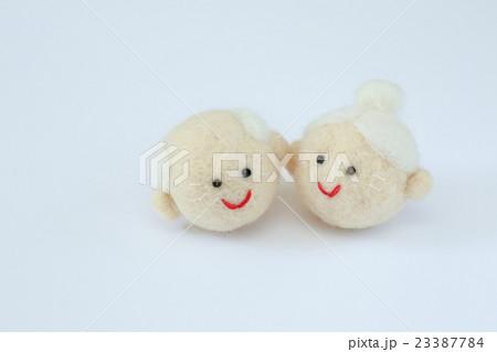 羊毛フェルトのおじいちゃんとおばあちゃん  23387784