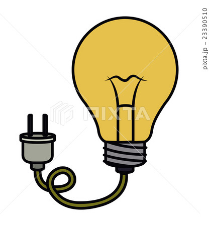 bulb wild plug electric drawing isolated iconのイラスト素材 [23390510] - PIXTA