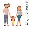 Family portrait illustration. 23391130