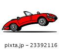 オープンカー 赤 23392116