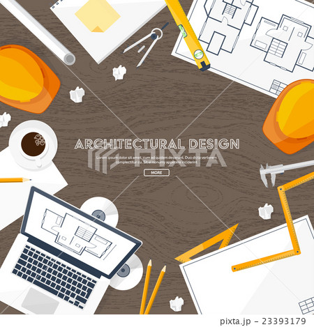 Vector illustration. Engineering and architectureのイラスト素材 [23393179] - PIXTA