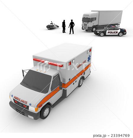 救急車/パトカー/オートバイ 23394769