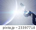 人工衛星 明るいグリッドイメージ 23397718