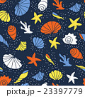 Seamless pattern of seashells. 23397779