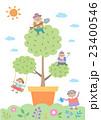 少年 植木鉢 女子のイラスト 23400546