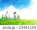 自転車 カップル 二人のイラスト 23401159