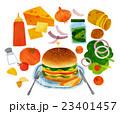料理 ファストフード ファーストフードのイラスト 23401457