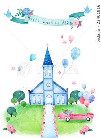お祝い 祝い 教会のイラスト素材 23401916 Pixta
