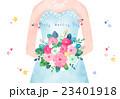 花束 新婦 花嫁のイラスト 23401918