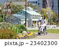 シニア女性 車椅子 散歩 23402300