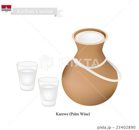 Karewe or Palm Wine, Famous Beverage in Kiribatiのイラスト素材 [23402890] - PIXTA