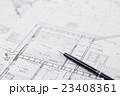 建設 建築 不動産 図面 ビジネス オフィス 設計図 設計 23408361