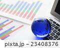 ビジネス オフィス グローバル グラフ 国際化 地球儀  23408376
