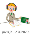 映像授業を見る女子 23409652