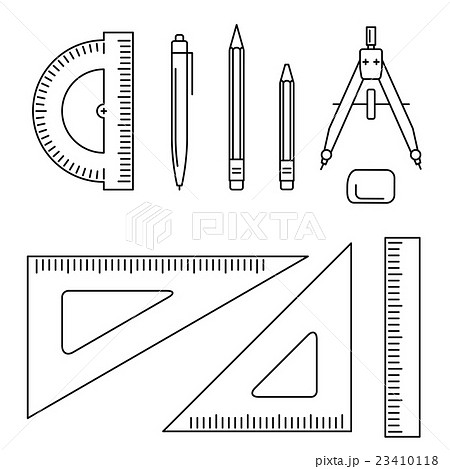 Vector drawing instrument.のイラスト素材 [23410118] - PIXTA