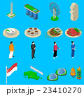 Singapore Travel  Symbols Isometric Icons Set 23410270