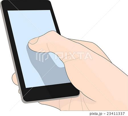 スマートフォンを操作する人 イラスト 23411337