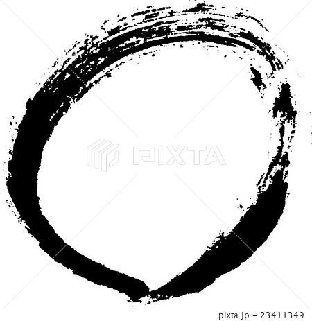 丸 手書きの筆文字のイラスト素材 23411349 Pixta