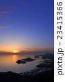 瀬戸内の夕暮れ(香川県三豊市、七宝山系から見る黄昏の荘内半島) 23415366