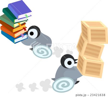 あくせく働く可愛い赤ちゃんペンギンのイラスト素材 [23421638] - PIXTA