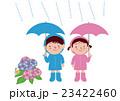 子供 梅雨 傘のイラスト 23422460