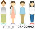 若い女性 セット 23422992