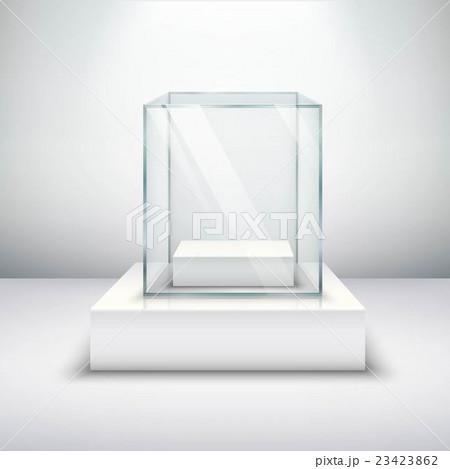Empty Glass Showcaseのイラスト素材 [23423862] - PIXTA
