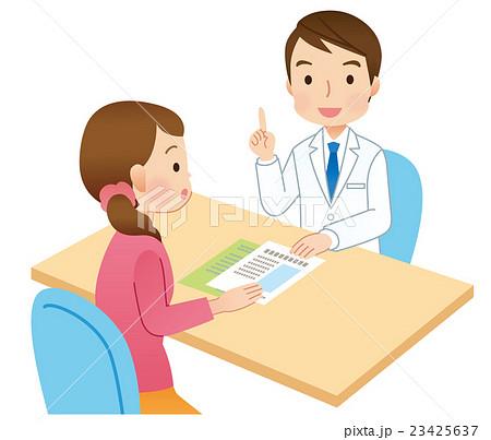 説明する医者 患者 医療 23425637