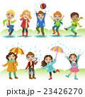 Kids Playing Under The Rain 23426270