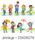 雨 人 キッズのイラスト 23426270