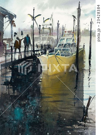 漁港 桟橋 23428384