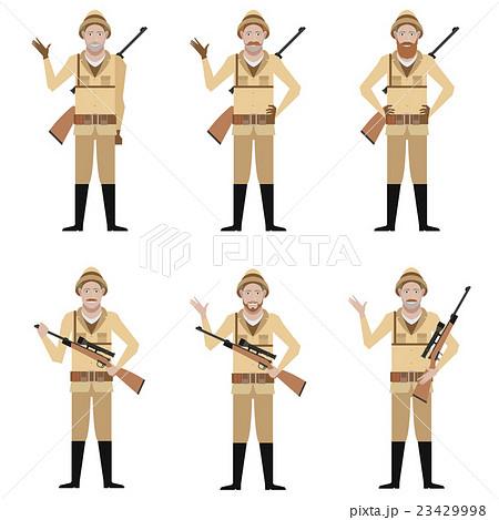 Set of Safari Huntersのイラスト素材 [23429998] - PIXTA