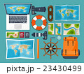 パスポート 旅券 マップのイラスト 23430499