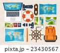 パスポート 旅券 マップのイラスト 23430567