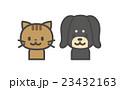 犬 猫 シンプルキャラのイラスト 23432163