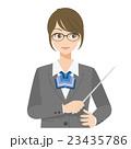 女性 スーツ 眼鏡のイラスト 23435786