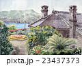 長崎グラバー園のスケッチ画 23437373