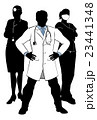 Doctors and Nurses Medical Team Silhouettes 23441348